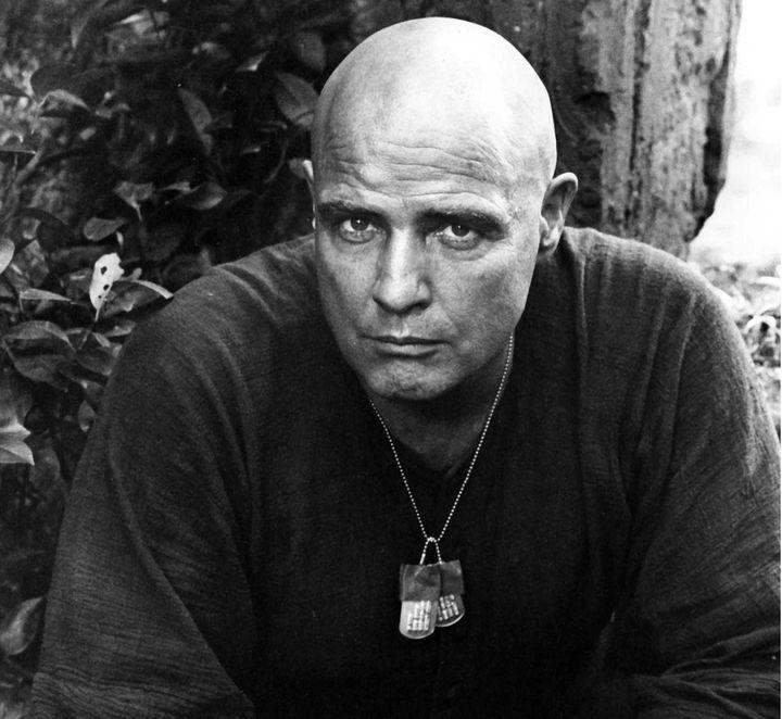 "Marlon Brando on the set of ""Apocalypse Now."""