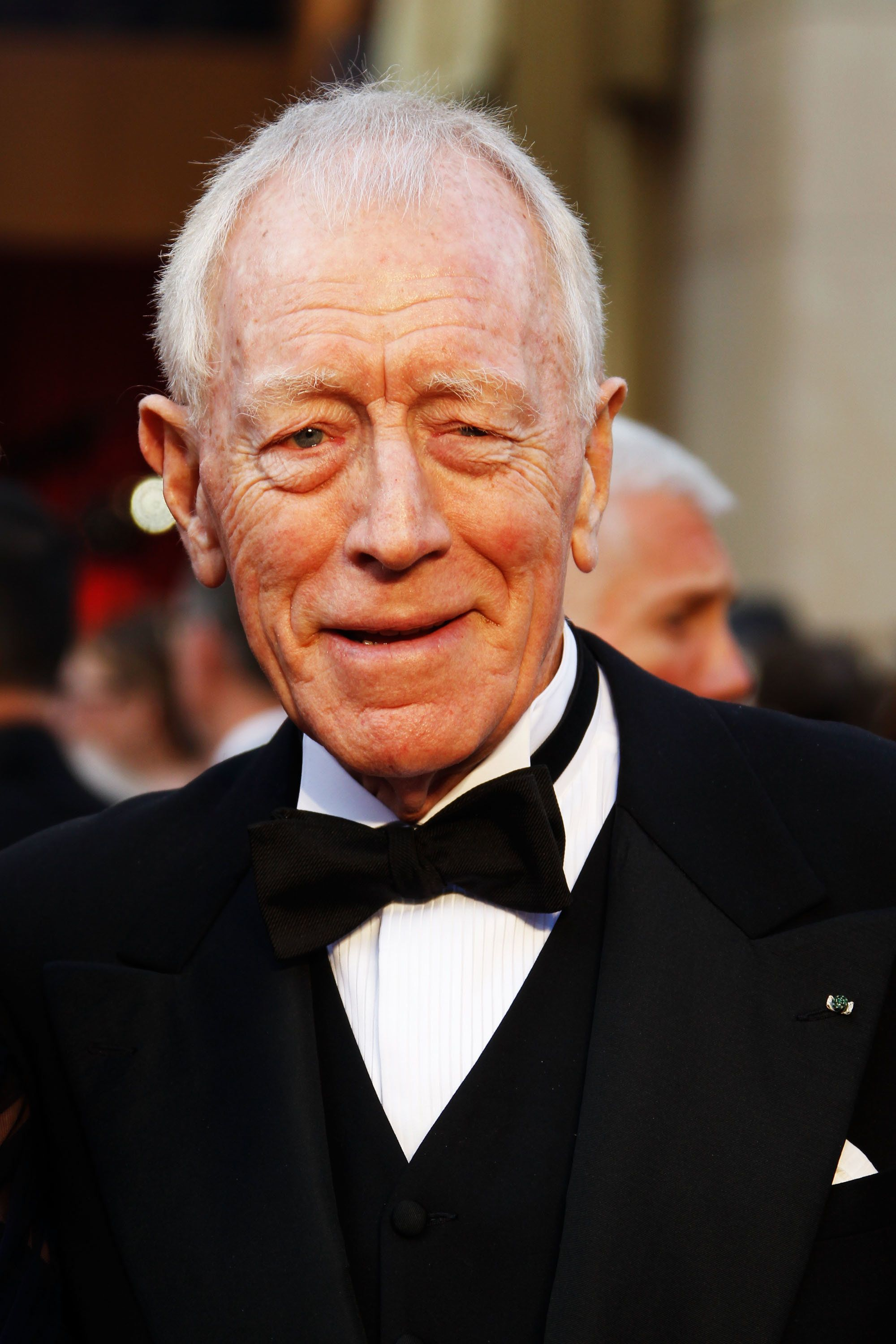 HOLLYWOOD, CA - FEBRUARY 26:  Actor Max von Sydow arrives at the 84th Annual Academy Awards held at the Hollywood & Highland Center on February 26, 2012 in Hollywood, California.  (Photo by Jeff Vespa/WireImage)