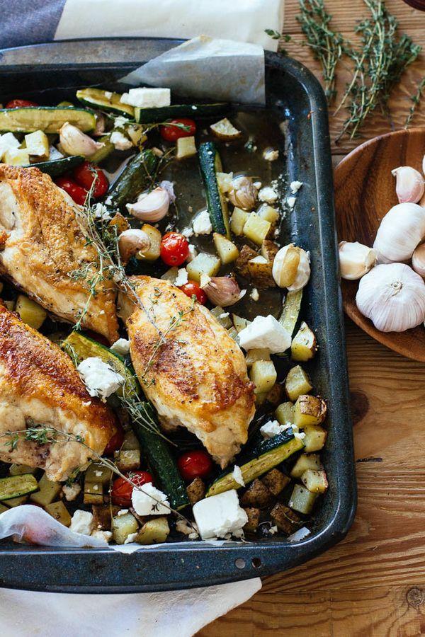 "<strong>Get the <a href=""http://www.theclevercarrot.com/2015/04/roast-chicken-dinner-trip-farm/"">Roast Chicken Dinner recipe<"