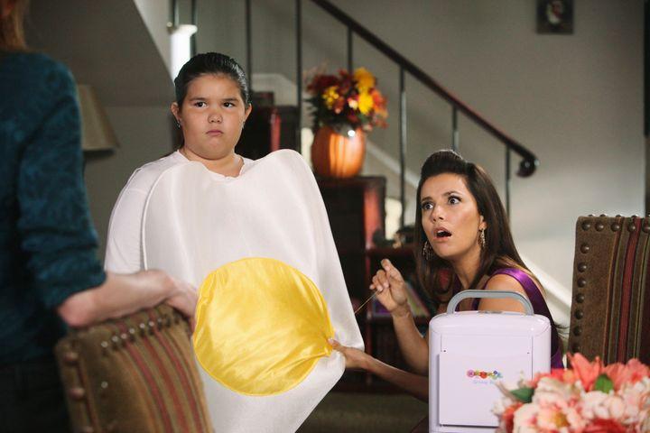 "Madison de la Garza and Eva Longoria on ""Desperate Housewives."""