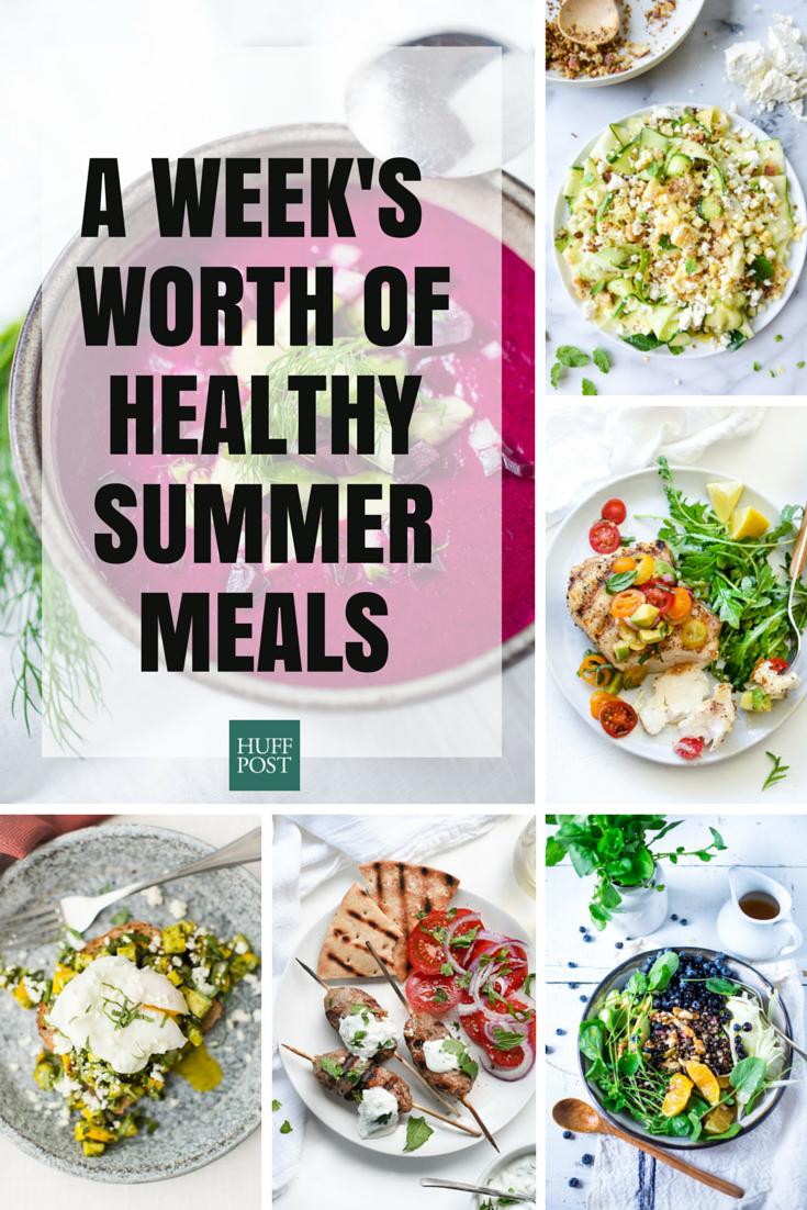 healthy food menu