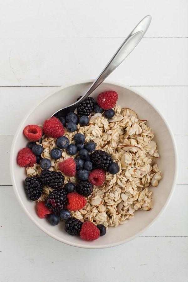 """<strong>Get the<a href=""""http://naturallyella.com/2015/06/20/mixed-berry-overnight-oats/"""">Mixed Berry Overnight Oats rec"""