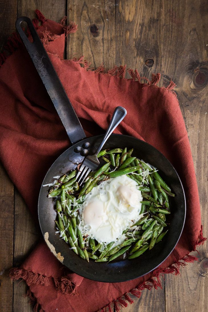 "<strong>Get the <a href=""http://naturallyella.com/2015/06/16/egg-green-bean-skillet/"">Egg and Green Bean Skillet recipe<"