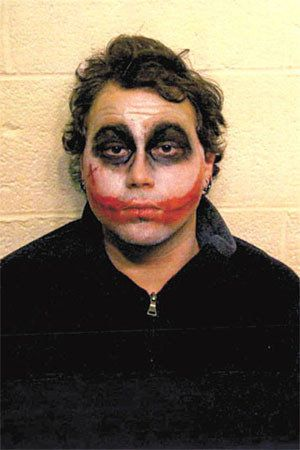 "Why so serious?  Chase was arrested after allegedly harassing Applebee's patrons in western New York while <a href=""https://w"