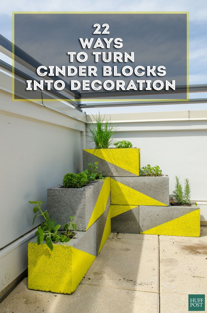 cinder block projects These cinder block ideas are easy to build, and tough as nails choose from a cinder block bench, fire pit, planter, coffee table, and more.