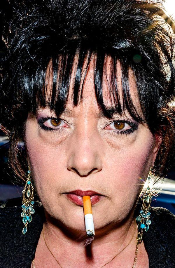 Frieda, Milwaukee, USA via Bruce Gilden/Magnum Photos from 'Face', Dewi Lewis Publishing.