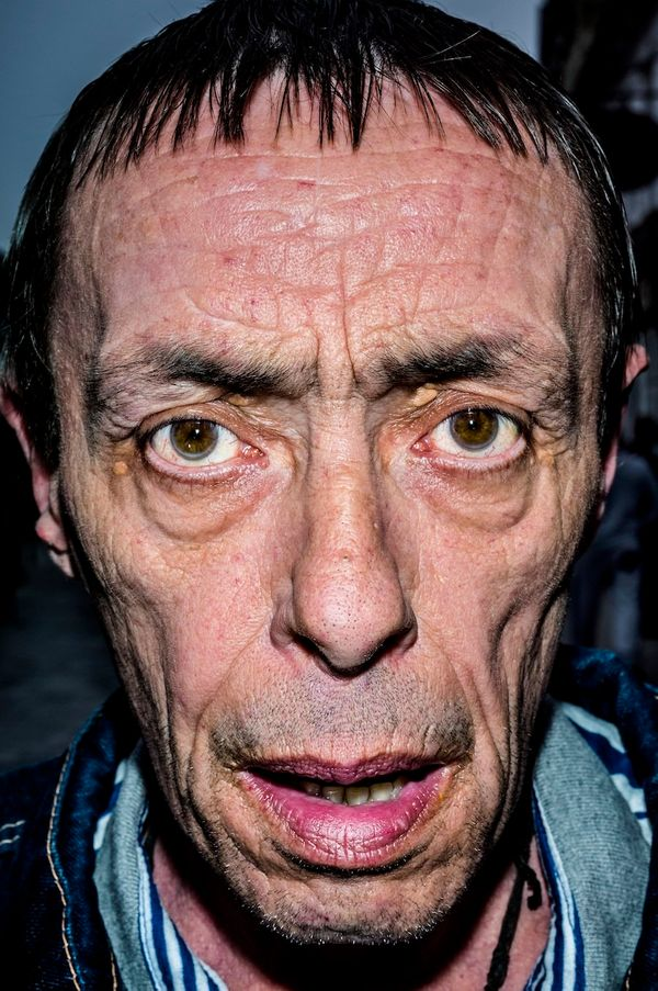 Terry, West Bromwich, England via Bruce Gilden/Magnum Photos from 'Face', Dewi Lewis Publishing.