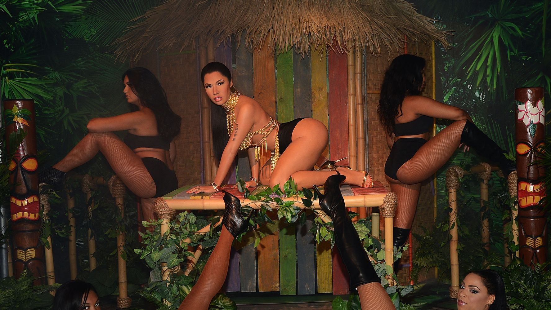 Anaconda Movie Hot Scene nicki minaj's 'anaconda'-inspired wax figure heats up madame
