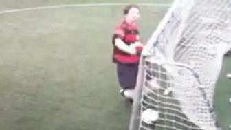 An amateur goalie in Scotland really messed up on this own goal.
