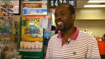Cedric Jackson threw away two lottery tickets worth $10,000, but managed to recover them.