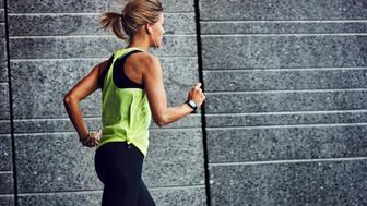 Young jogger running