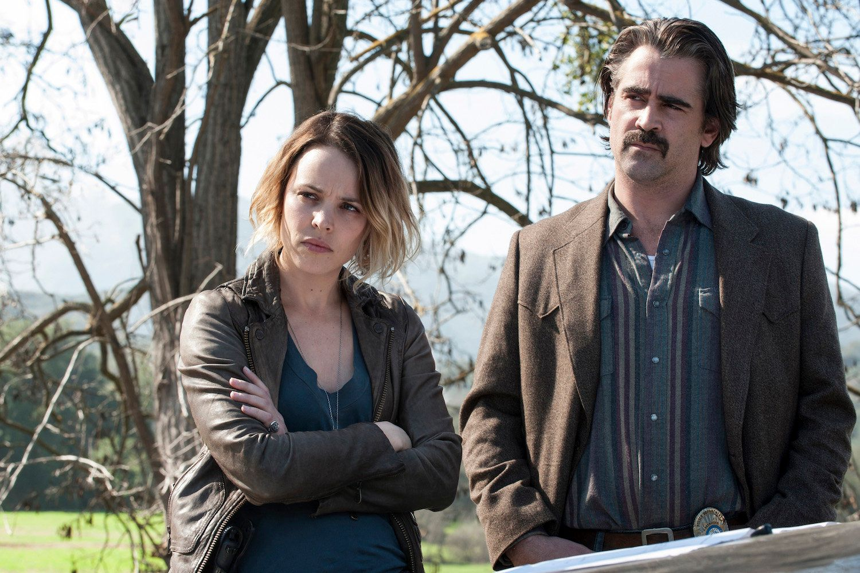 Rachel McAdams and Colin Farrell in 'True Detective.'