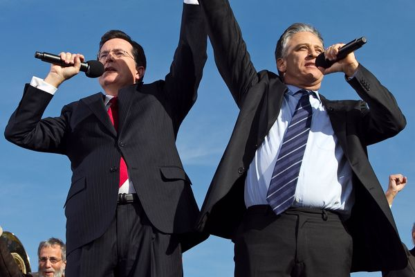 Jon Stewart Turned Stephen Colbert Onto Political Satire