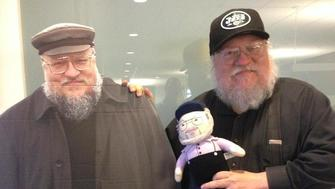 George R.R. Martin poses with other George R.R. Martins.