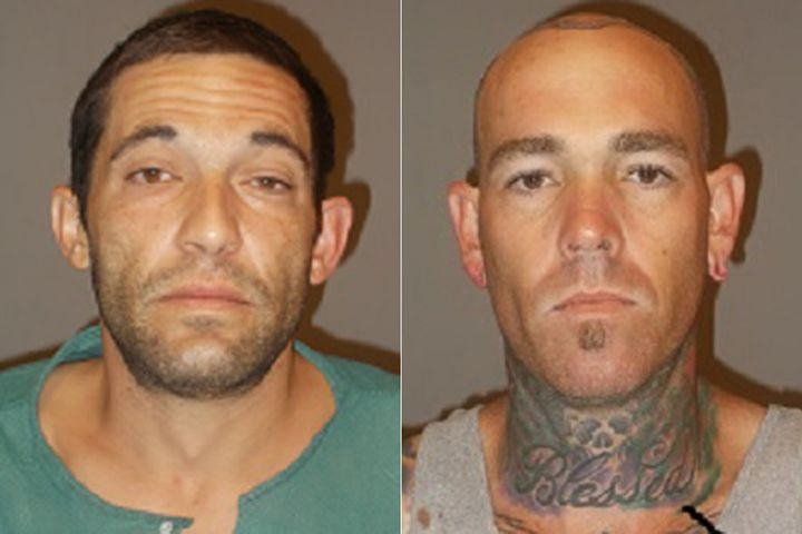 Robbery suspects Cole Lewallen and Robbie Jay Johnson Jr.