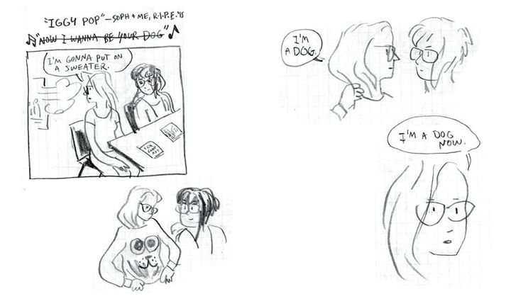 """<p><em><span style=""""font-family: Arial, Helvetica, sans-serif; font-size: 14px; line-height: 20px; background-color: #eeeeee;"""">""""Iggy Pop,"""" a short comic created by Mok while she and Foster-Dimino were at the Rhode Island Independent Publishing Expo.</span></em></p>"""