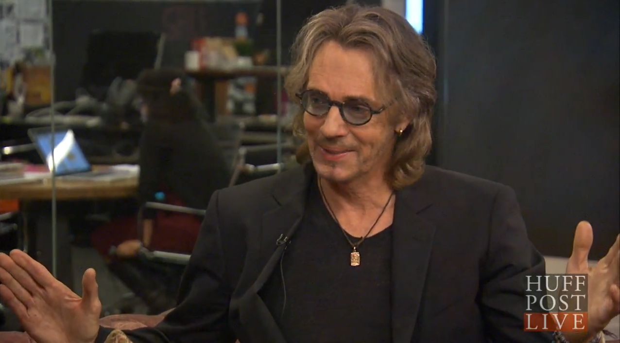 Rick Springfield on the set of HuffPost Live