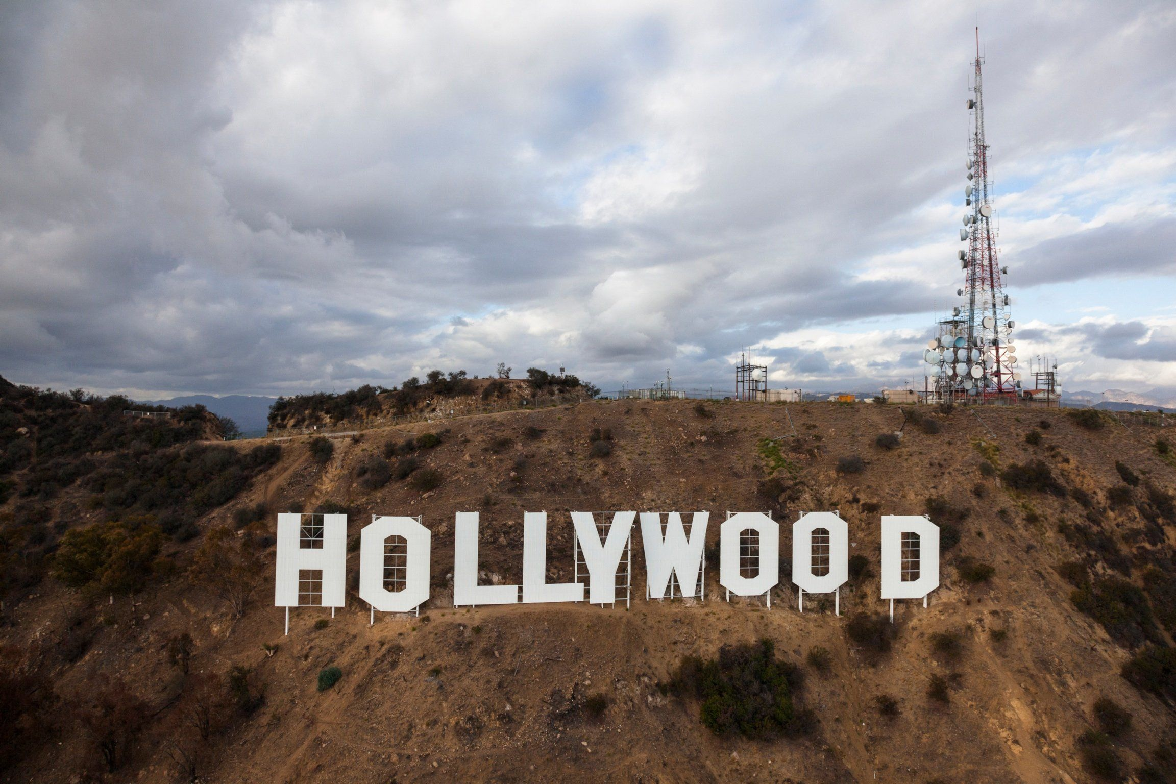 Giant sign in Hollywood. Los angeles, California. USA