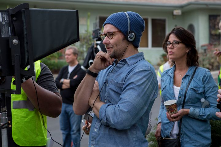 "Joel Edgerton directs a scene from ""The Gift."""