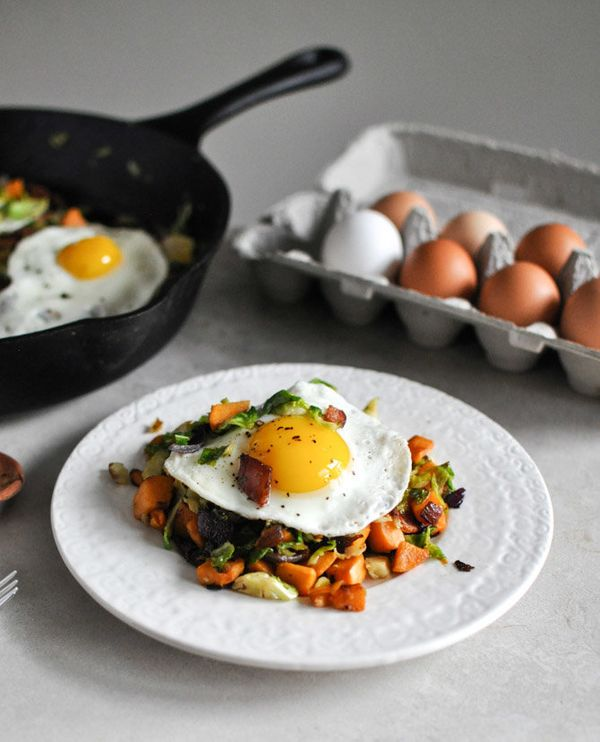 """<strong>Get the <a href=""""http://www.howsweeteats.com/2012/10/brussels-sprouts-breakfast-hash-for-dinner/"""" target=""""_blank"""">Bru"""