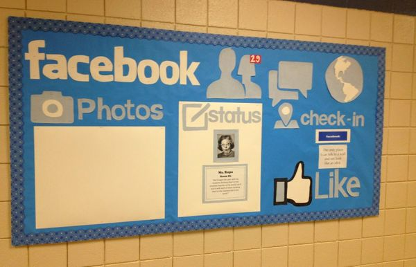 8 your students will like this facebook wall - Classroom Design Ideas
