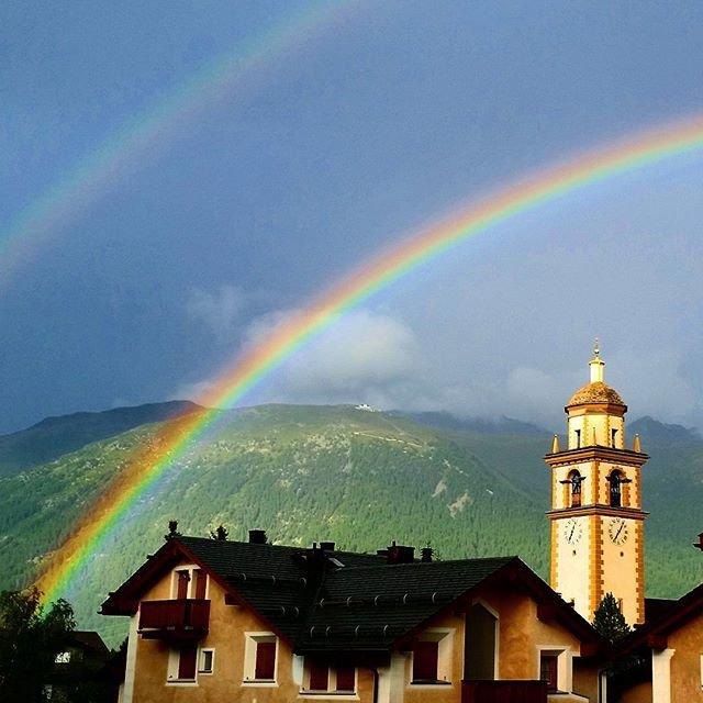 St. Moritz, Switzerland rainbow