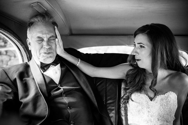 """""""Vulnerability is beautiful. Niki's dad Budbroke down en route to the church to give away his little girl on her weddin"""