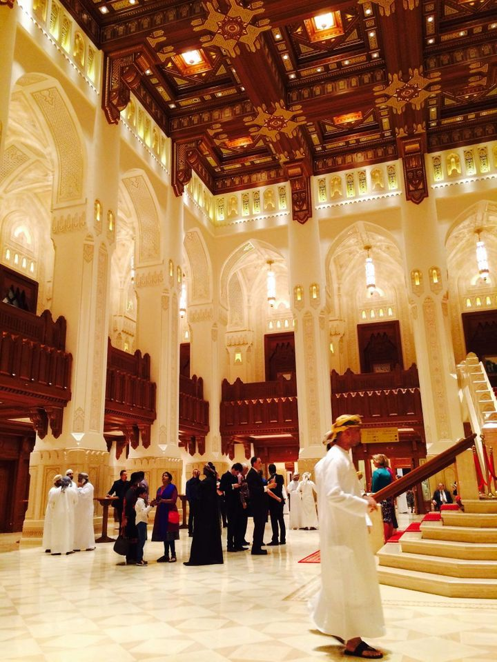 Visiting the Royal Opera House in Oman.