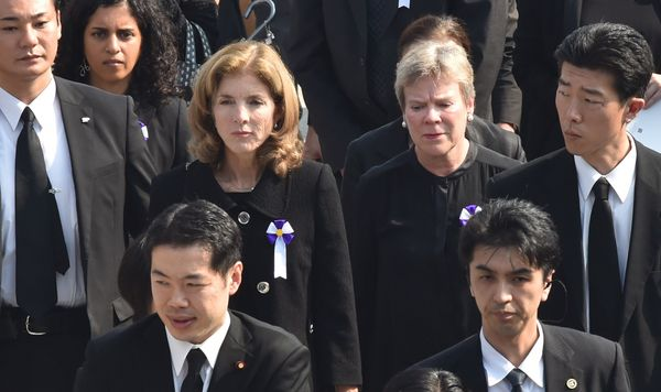 U.S. Ambassador to Japan Caroline Kennedy and Under Secretary for Arms Control and International Security Rose Gottemoeller a