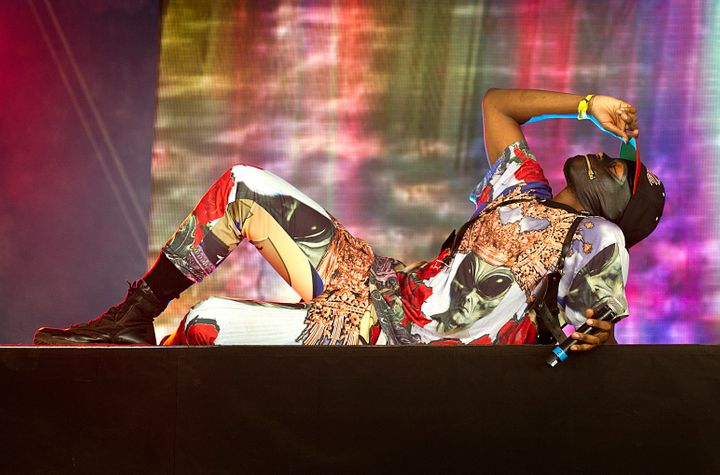 <span>Zebra Katz in concert during Lovebox Festival 2013 in Victoria Park in London.</span>