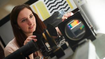 "<p><span style=""font-family: Arial, Helvetica, sans-serif; font-size: 14px; line-height: 20px; background-color: #eeeeee;"">Lauren Welbourne with a colorimeter machine.</span></p>"