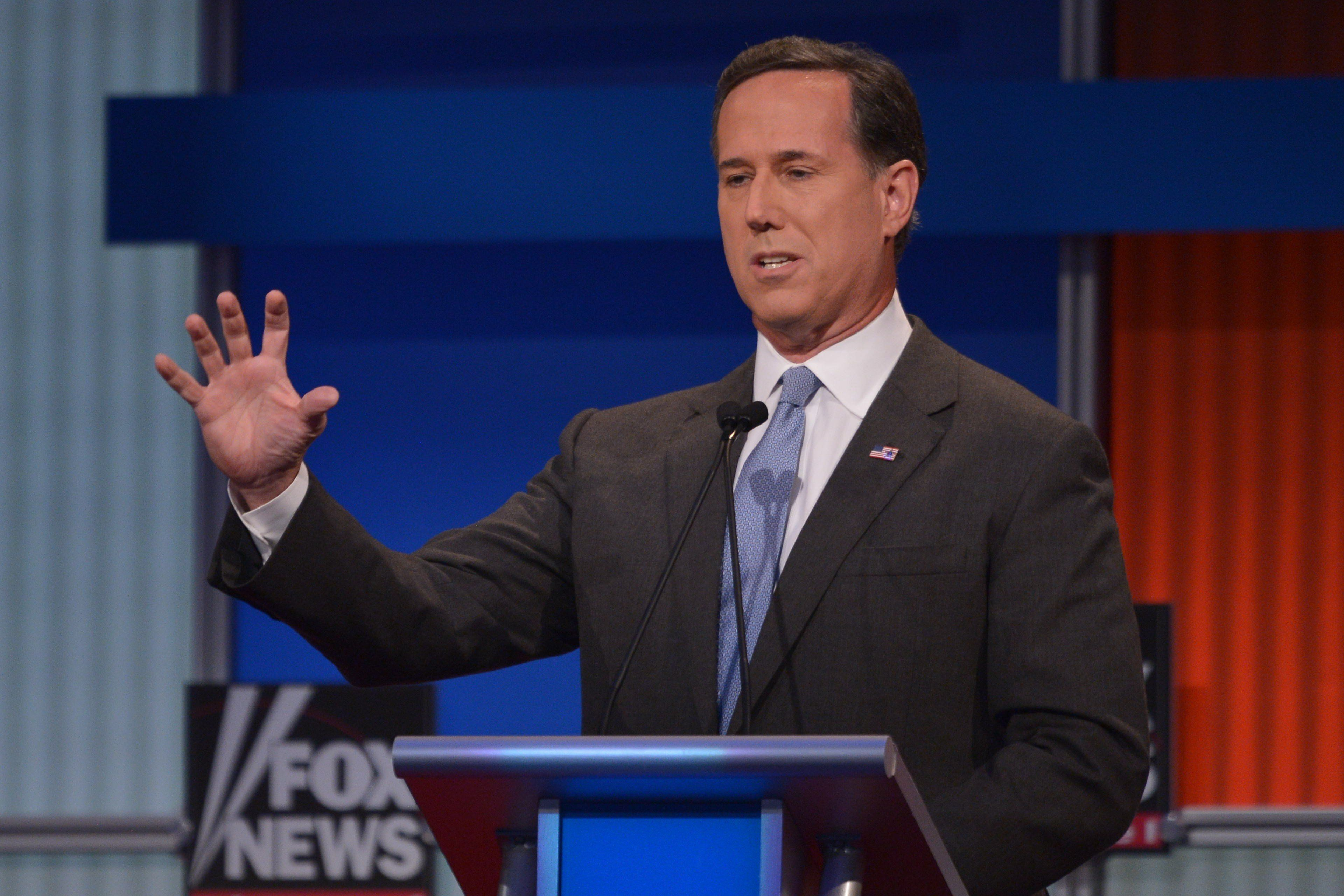 """<p>GOP presidential candidate Rick Santorum called the Supreme Court's recentruling on marriage equality a """"rogue Supreme Court decision.""""</p>"""