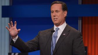 """<p>GOP presidential candidate Rick Santorum called the Supreme Court's recent&nbsp;ruling on marriage equality a """"rogue Supreme Court decision.""""</p>"""