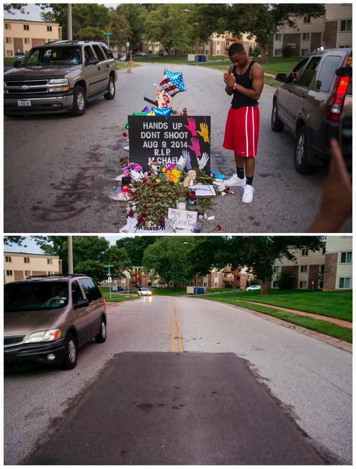 Reuters photojournalist Adrees Latif captures the Ferguson street where 18-year-old Michael Brown was killed. Photographed on