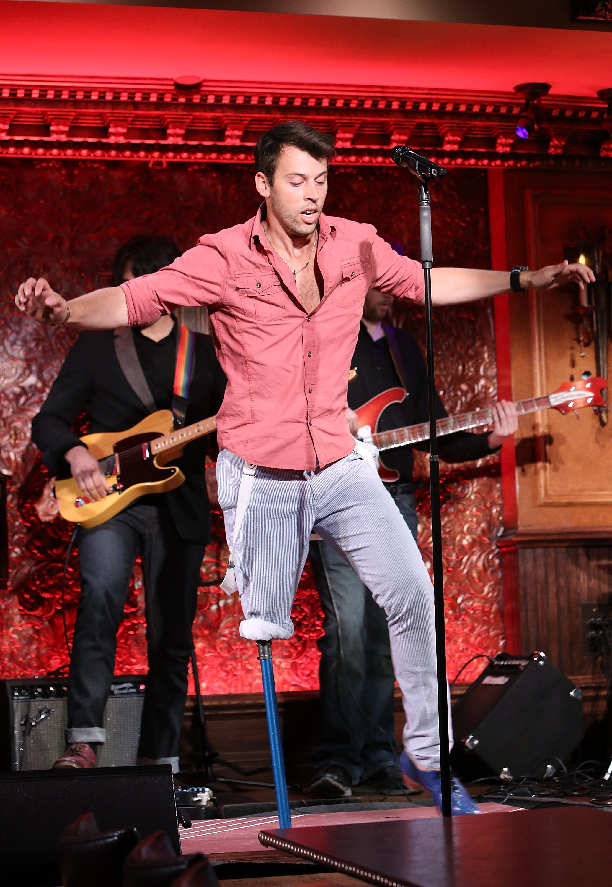 NEW YORK, NY - AUGUST 04:  Evan Ruggiero performs at the 54 Below Press Preview at 54 Below on August 4, 2015 in New York City.  (Photo by Monica Schipper/FilmMagic)
