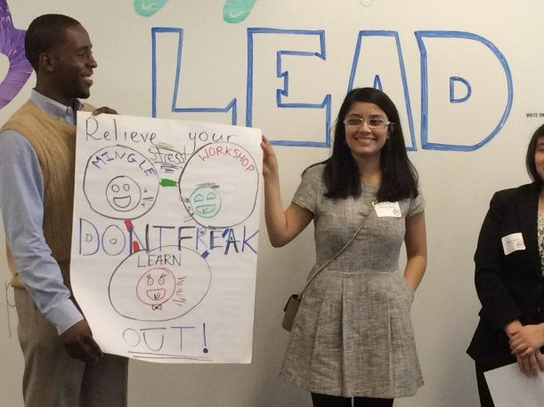Candidates for America Needs You's fellow program in Illinois take part in a group activity.