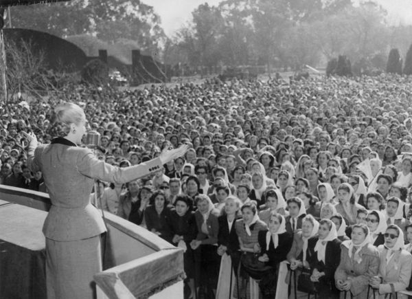 "Remembered fondly in pop culture as ""Evita,"" Eva Peron helped secure the right to vote for women in 1947 as First Lady of Arg"