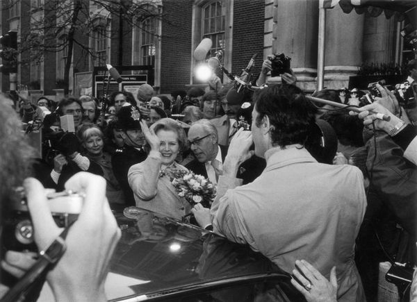 Margaret Thatcher arrives to cast her vote in the 1979 general election. With the victory of her Conservative Party, Thatcher