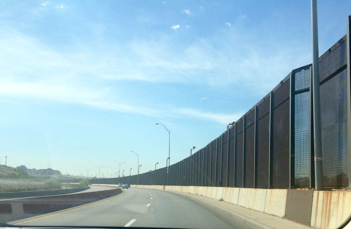 The border fence dividing El Paso and Ciudad Juarez.