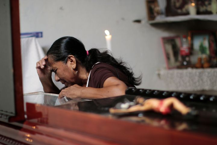 <span><span>A woman attends the wake of Miguel Angel Jimenez Blanco in Guerrero state.&nbsp;</span></span><span>2015.</span>