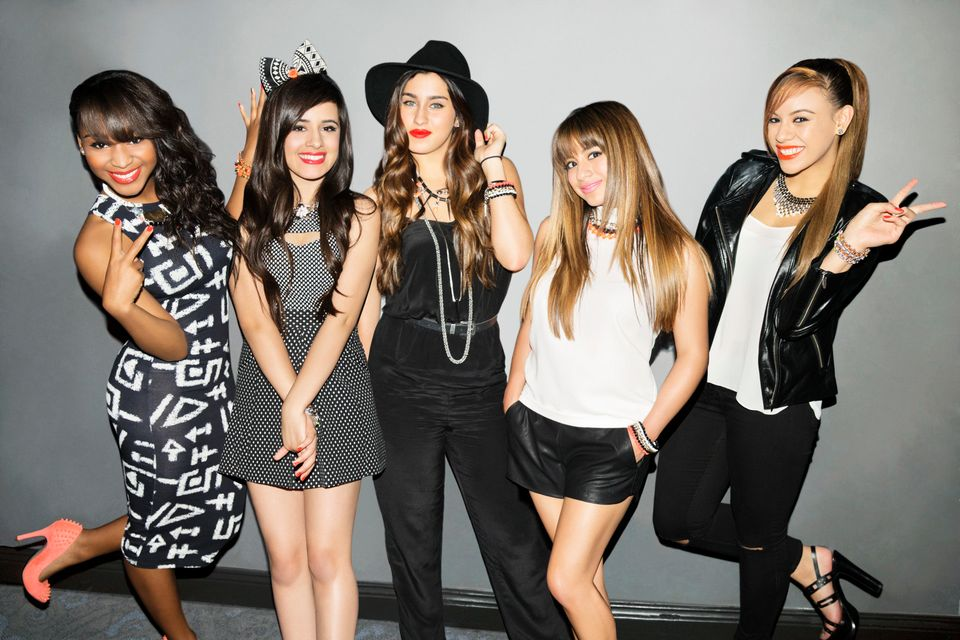 This undated publicity image released by Epic Records shows members of Fifth Harmony, from left, Normani Kordei, Camila Cabel