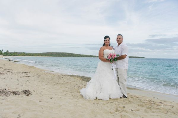 """""""Teo and Christine Espinosa celebrated their 10th wedding anniversary with a vow renewal on Friday, August 7."""" - Sandy Malone"""