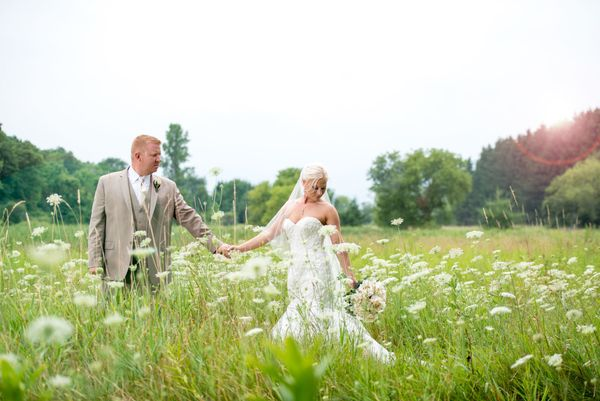 """""""Heather and Blake were married on Saturday August 8, just outside of Slinger, Wisconsin. They celebrated with over 350 of th"""