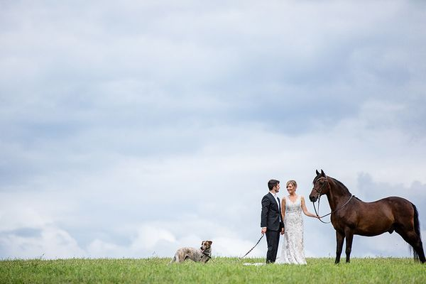 """""""Alyssa and Brad's wedding day with Cooper andRusty in Schoharie, New York."""" - Tracey Buyce of <a href=""""http://www.trac"""