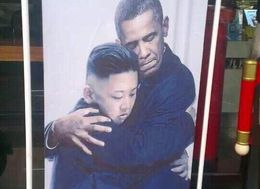 Chinese Tea Ad Shows Obama And Kim Jong Un In Loving Embrace