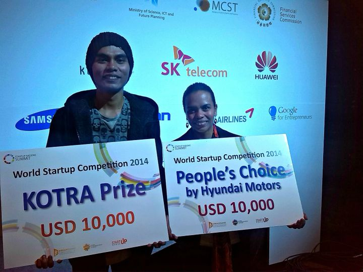 <span><span>Raphael and Aisa Mijeno awarded at the World Startup Competition 2014</span></span> &nbsp;