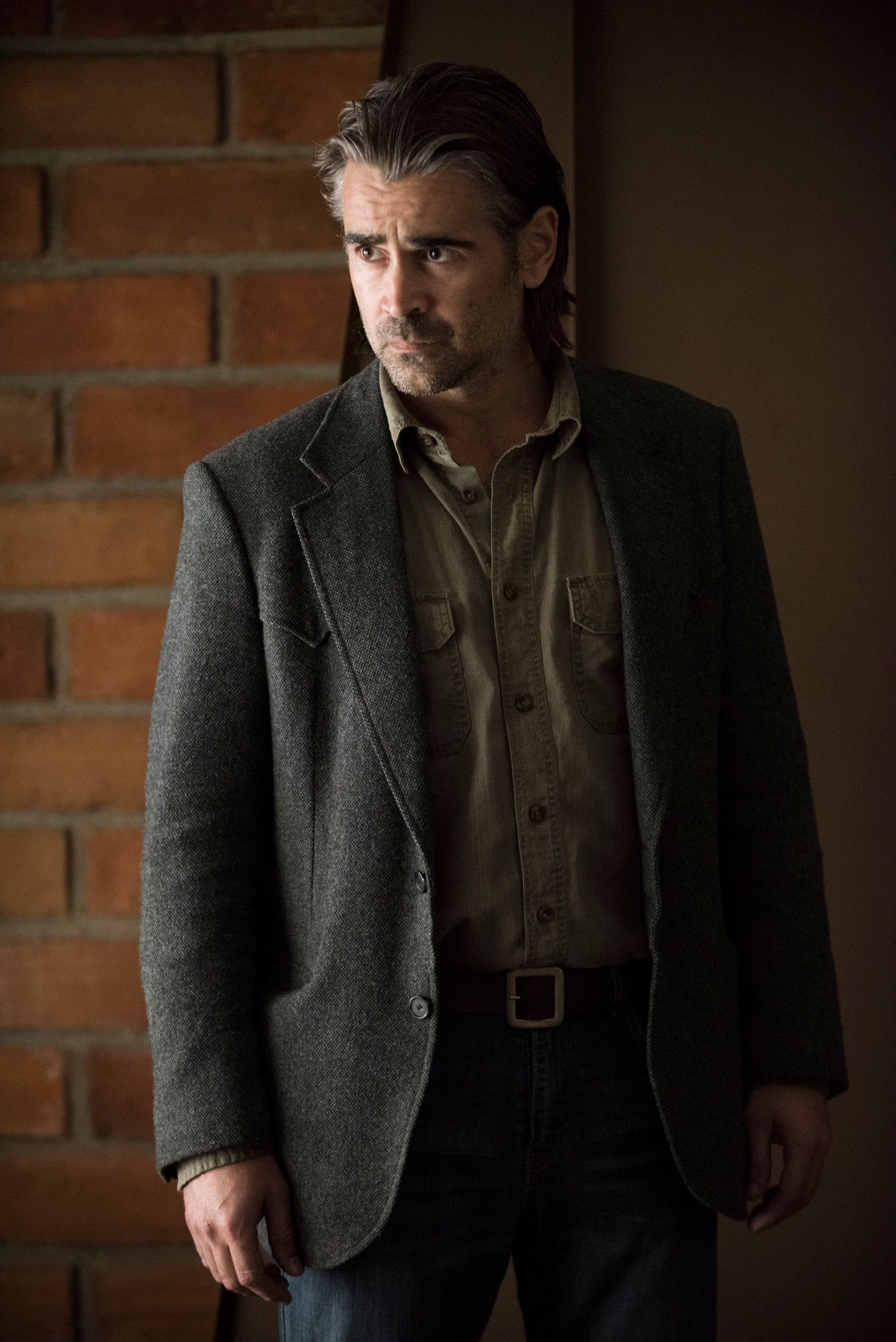 "Colin Farrell appear in HBO's ""True Detective."""