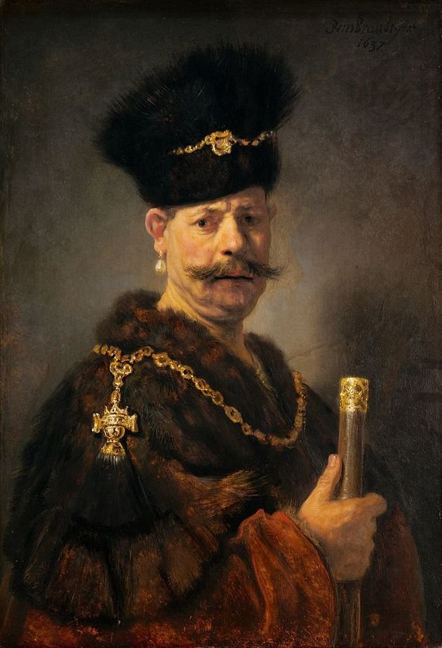 """<span class='image-component__caption' itemprop=""""caption""""><span style=""""font-family: Arial, Helvetica, sans-serif; font-size: 14px; line-height: 20px; background-color: #eeeeee;"""">Rembrandt, A Polish nobleman, 1637</span></span>"""