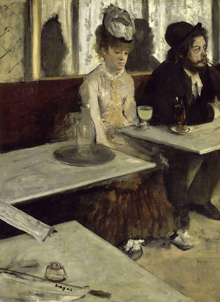 <span>Edgar Degas, La Absinthe, 1873</span>