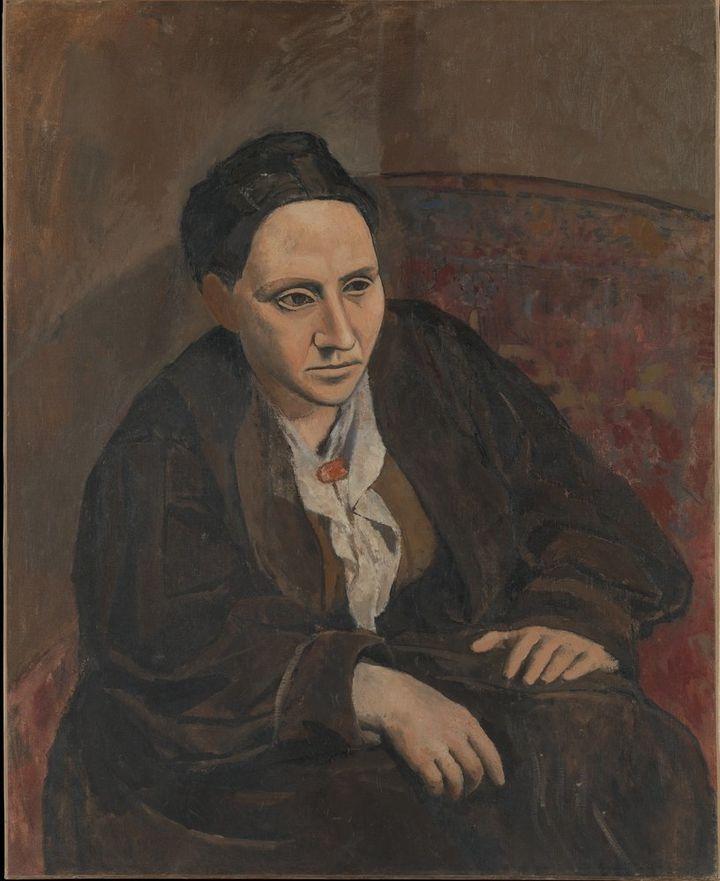 <span>Pablo Picasso, Portrait of Gertrude Stein, 1906&nbsp;</span>